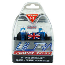 2 X H7 Xenon Ultra Power White Bright 5000k Gas Car  Headlight Headlamp Bulbs