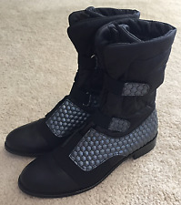 Daniella Lehavi Women's Designer Fashion Boots Black Leather  Sz. 38 / 8 M