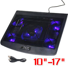 "10""-17"" Adjustable USB Laptop Cooling Pad 5 Fans Stand Pad Cooler For Notebook"