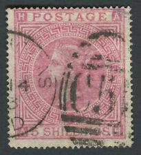 GB Used in DANISH WEST INDIES 5s Rose, AH, Part C51 St Thomas