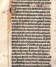 MEDIEVAL ILLUMINATED MANUSCRIPT BIBLE LEAF France, c.1260 - MARK 3-5 PARABLES