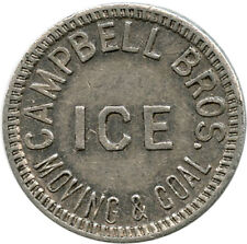 Campbell Bros. Ice Moving & Coal Edinburg, Indiana IN 25 LBS. Ice Trade Token