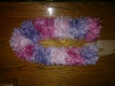 CHILDS HANDMADE CROCHETED SUPER SOFT MULTI-COLOR SCARF