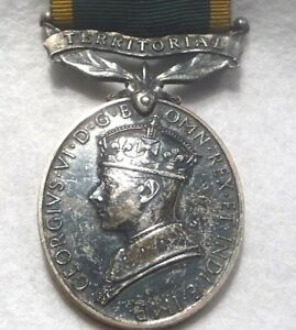 "Original British ""For Efficient Service"" Territorial Bar Medal: Sgt. A. Waddell"