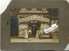C-1890 FEINBERG'S Dry Goods & Clothing STORE FRONT PHOTOGRAPH Gold Leaf SIGNS