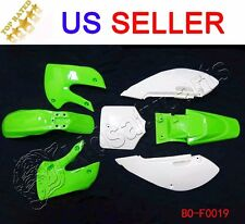 Plastic Fender Complete Fairing Kit for Kawasaki KLX 110 KLX110 DRZ KX 65 Green