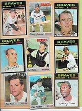 SIGNED 1971 TOPPS HANK AARON AUTO BRAVES LOT NIEKRO CEPEDA GLUED BOOK PAGE *ABC
