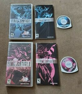Final Fantasy 1 & 2 II For PlayStation Portable PSP 20th Anniversary Complete