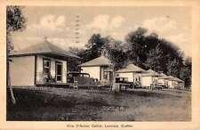 Lanoraie Quebec Canada Villa D Autray Cabins Scene Antique Postcard K15397