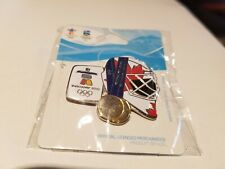 VANCOUVER 2010 OLYMPIC DOUBLE GOLD MEDAL HOCKEY PIN.