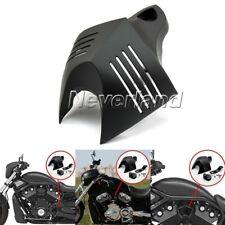 Black V-shield Horn Cover Set Fit For Harley Softail Dyna Street Glide 1992-2013
