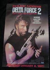 DELTA FORCE 2 movie poster CHUCK NORRIS original 1990 video promo