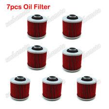 7x Oil Filters For YAMAHA YFM700R SR400 XT660 TDM900 XV250 XVS650 XVS1100 V-STAR