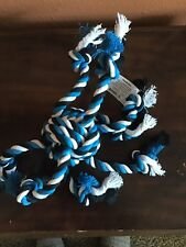 ROPE TOY FOR DOGS Crazy 8 Dog Toy Tug Knot Chew New Blue