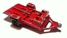 "Vintage Tootsie Toys Red Metal Motorcycle Trailer 3.5"""