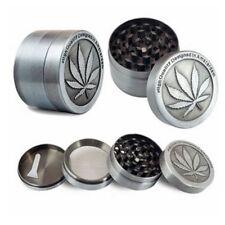 4Piece Herbal Alloy Smoke Metal Chromium Crusher Tobacco Herb Spice Grinder