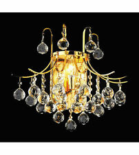 World Crystal contour 3 Light Crystal Chandelier Wall Light Gold