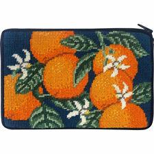 Alice Peterson Stitch & Zip Needlepoint Cosmetic Purse Kit - Oranges