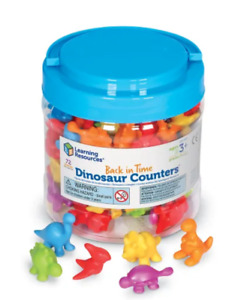 Learning Resources Back in Time Dinosaur Counters Set of 72 Colored Dinosaurs