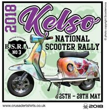 2018 KELSO NATIONAL SCOOTER RALLY PATCH BSRA MODS SKINHEADS