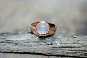Rainbow Moonstone Ring For Men Engagement Ring In 925 Gold Plated Silver Ring
