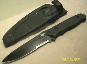 2000's~BENCHMADE 140~NIMRAVUS~ELISHEWITZ DESIGN HI-TECH TACTICAL KNIFE w/SHEATH~