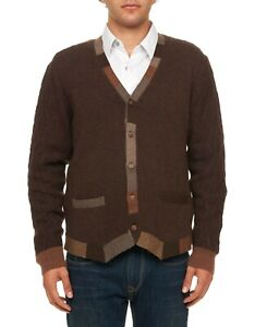 Robert Graham Joshua Wool Cardigan, Dark Brown