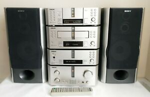 SONY DHC-EX880MD HI-FI COMPONENTS SYSTEM 3 MINIDISC CHANGER 3 CD CHANGER RARE