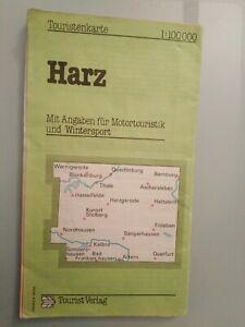 """Touristenkarte    """"Harz"""""""
