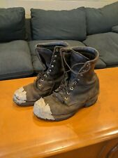Chippewa Mens Logger Boots MADE In USA 20090 size 11E Vintage leather Worn tough