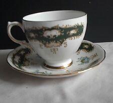 Queen Anne Fine Bone China England Ridgway Potteries LTD Cup & Saucer Gold Rims