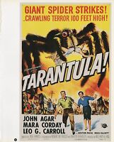 "2003 Vintage SCI-FI ""TARANTULA"" GIANT SPIDERS GGA COLOR Lithograph MINI POSTER"