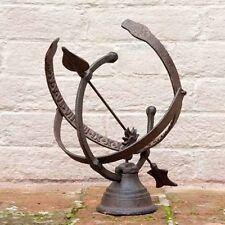 Sundial Metal Cast Iron Armillary Fallen Fruits Outdoor Garden Decor