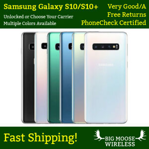Samsung Galaxy S10 S10+ Plus G973U G975U 128GB Unlocked Any Carrier Grade A