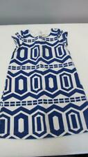 GYMBOREE Mod About Orange Blue/White Geometric Dress Size 7 EUC TL64