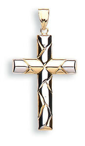 Gold Cross Pendant Gold Cross Necklace Yellow Gold Cross White Gold Cross