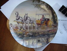 Collectible Knowles Oklahoma The Surrey With The Fring On Top Plate