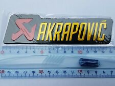 Plaque Stickers Akrapovic Alu Grand Modèle ≃140mm