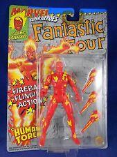 "Marvel Super Heroes 1992 Human Torch ""Fireball Flinging Action"" Toy Biz – MIMP"