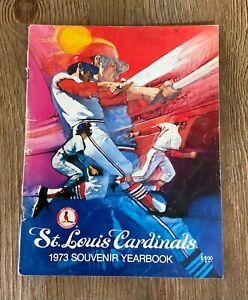 ST. LOUIS CARDINALS 1973 YEARBOOK - BROCK, GIBSON, TORRE, SIMMONS, SCHOENDIENST