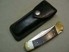Vintage Buck 110 Folding Knife with Leather Case