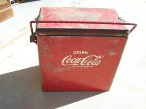 Vintage Coke Coca-Cola metal esky