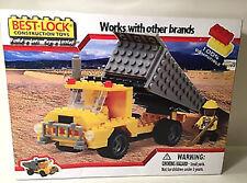 NIB Best-Lock Block Construction Toy, Over 130pcs Dump Truck Set