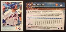 Lucas Duda NY Mets 2015 Topps non auto baseball card #237 LE 6/99 RARE MINT