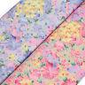 Cotton Poplin Fabric FQ Painting of Flower Field Retro Dress Quilting Craft VA70