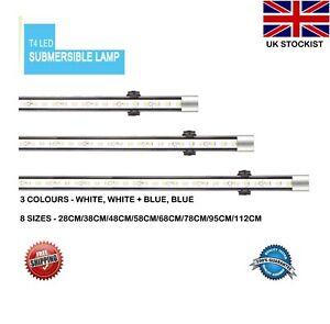Aquarium Fish Tank Waterproof LED Light Bar White/Blue Waterproof Submersible UK