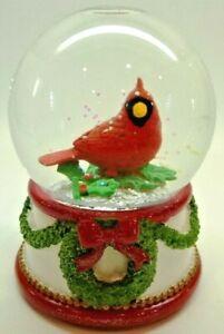 "Kcare Red Cardinal Christmas Musical Snow Globe-""We Wish You a Merry Xmas"" 5.5"""