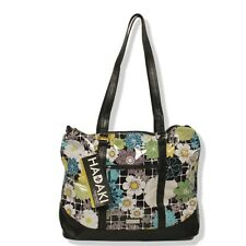 Hadaki Hannah's Tote O'Floral Blue Black Green Yellow Design NEW Weekender Size