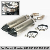 Motorcycle Exhaust Muffler Mid Link Pipe for Ducati Monster 696 695 795 796 1100