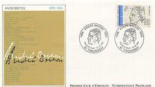 FIRST DAY COVER / PREMIER JOUR FRANCE 1991 / CELEBRITE / ANDRE BRETON